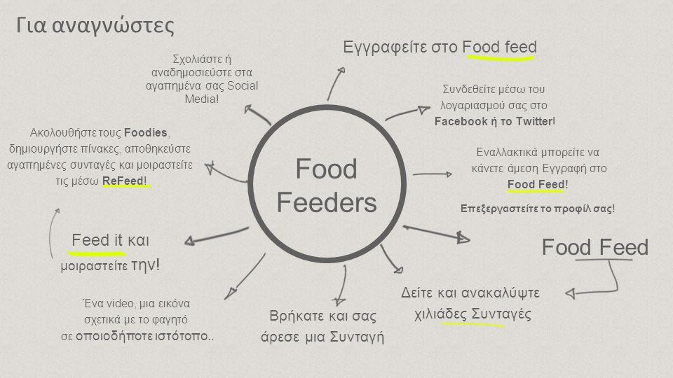 Γιατί FoodFeed; i ♥ Food Feed Ι Like it Lets feed It.