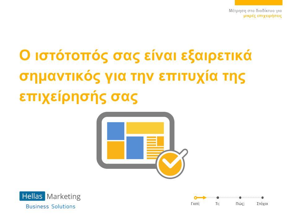 Ο ιστότοπός σας είναι εξαιρετικά σημαντικός για την επιτυχία της επιχείρησής σας Γιατί; Τι;Πώς;Στόχοι Μέτρηση στο διαδίκτυο για μικρές επιχειρήσεις