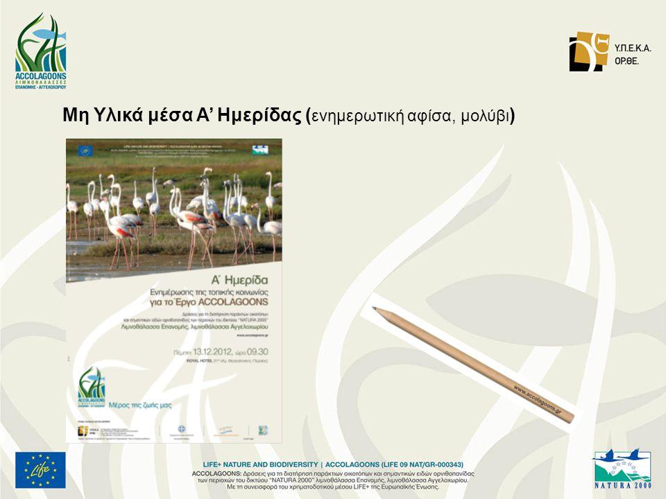 Μη Υλικά μέσα Α' Ημερίδας ( ενημερωτική αφίσα, μολύβι )