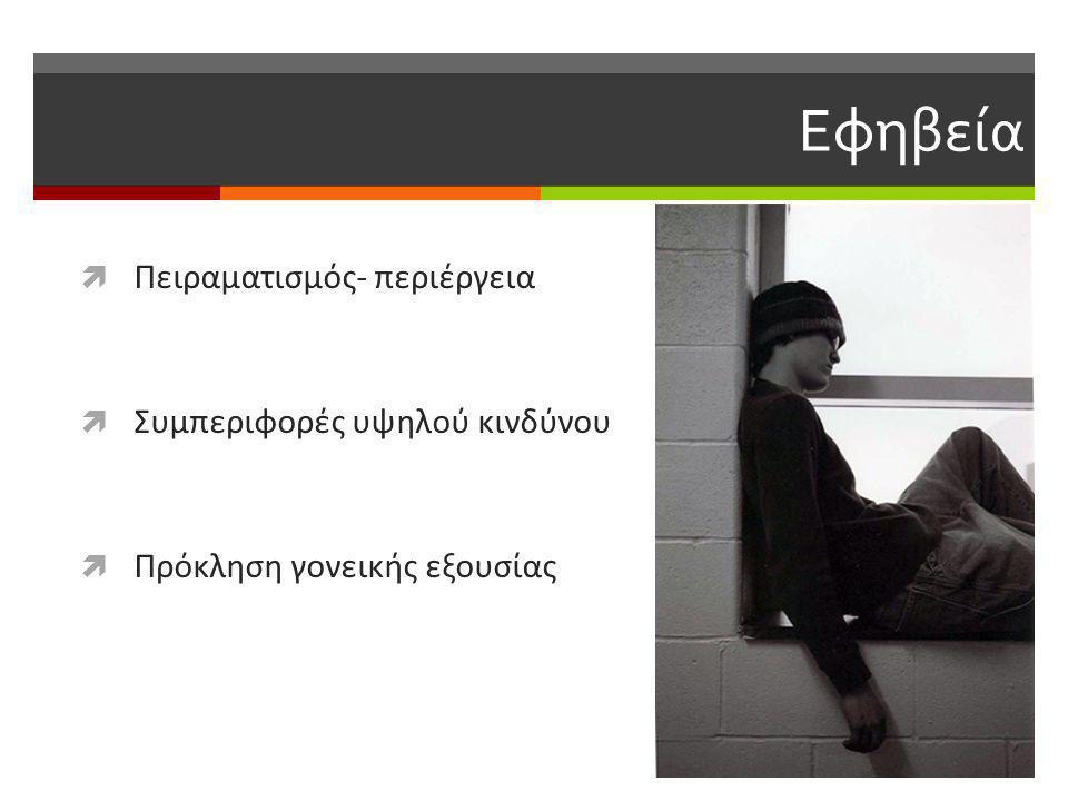 Χαρακτηριστικά της χρήσης του Διαδικτύου στον Eλληνικό εφηβικό πληθυσμό  τα διαδικτυακά παιχνίδια  ιστότοποι κοινωνικής δικτύωσης  ιστότοποι ανταλλαγής απόψεων