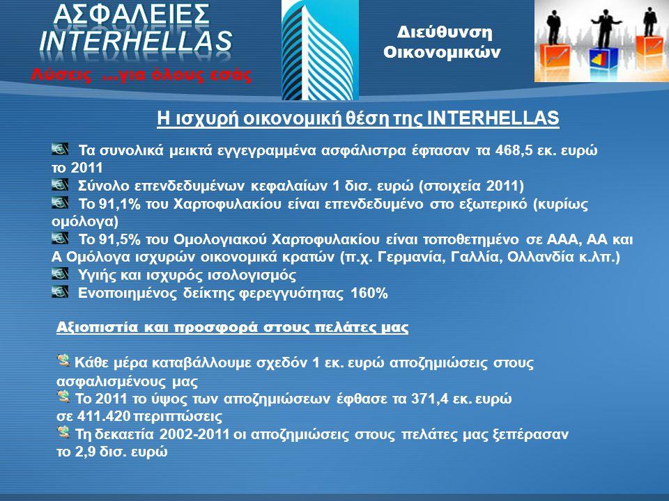 Διεύθυνση Οικονομικών Λύσεις …για όλους εσάς Βασικοί στόχοι και οργανόγραμμα του τμήματος Οι βασικοί στόχοι της οικονομικής διεύθυνσης είναι η σύνταξη