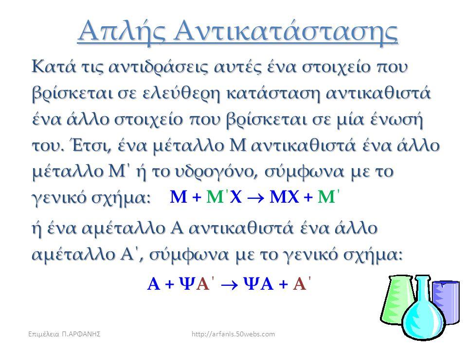 Επιμέλεια Π.ΑΡΦΑΝΗΣhttp://arfanis.50webs.com7 Διάσπασης Παράδειγμα διάσπασης αερίων με θέρμανση: 2BrNO(g)  2NO(g)+Br 2 (g) Το νερό θα διασπαστεί στα