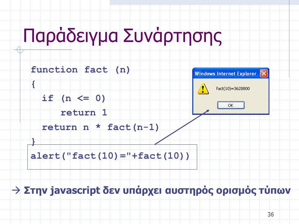37 Πότε/που χρησιμοποιείται η Javascript.