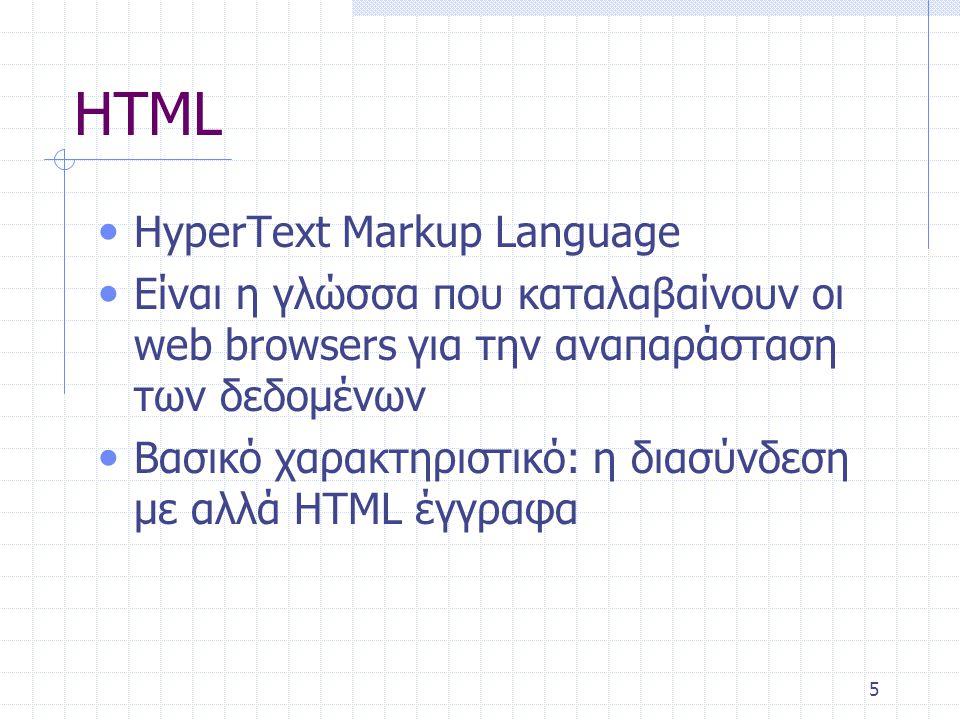6 HTML Κείμενο 1 Κείμενο 2Κείμενο 3 Κείμενο 4Κείμενο 5