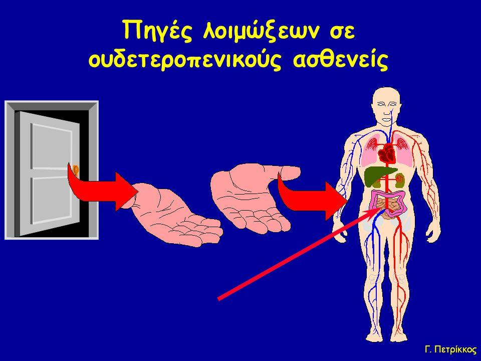 Πηγές λοιμώξεων σε ουδετεροπενικούς ασθενείς Ενδογενής χλωρίδα(%80) Εξωγενείς(%20) Γ. Πετρίκκος