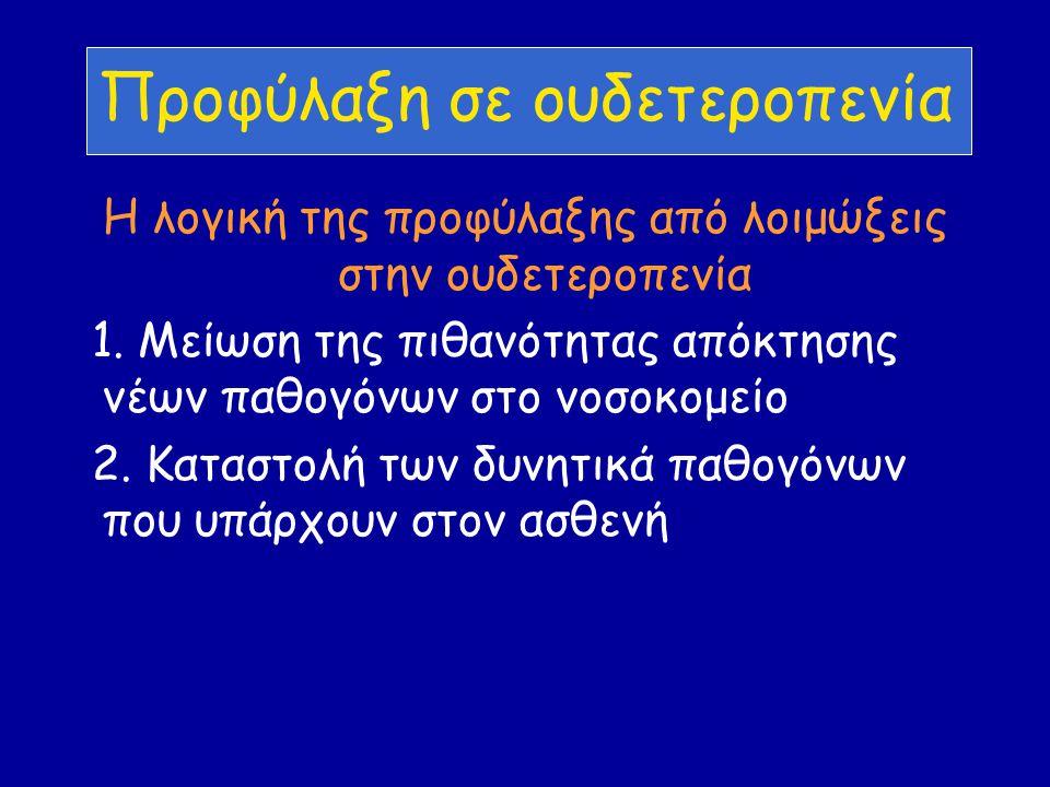 Προφύλαξη σε ουδετεροπενία Η λογική της προφύλαξης από λοιμώξεις στην ουδετεροπενία 1.