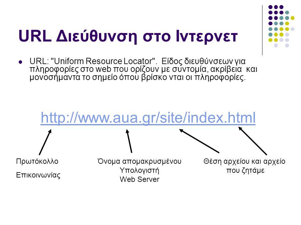 Αρχεία Συνήθη αρχεία που μεταφέρονται μέσω πρωτοκόλλου http.
