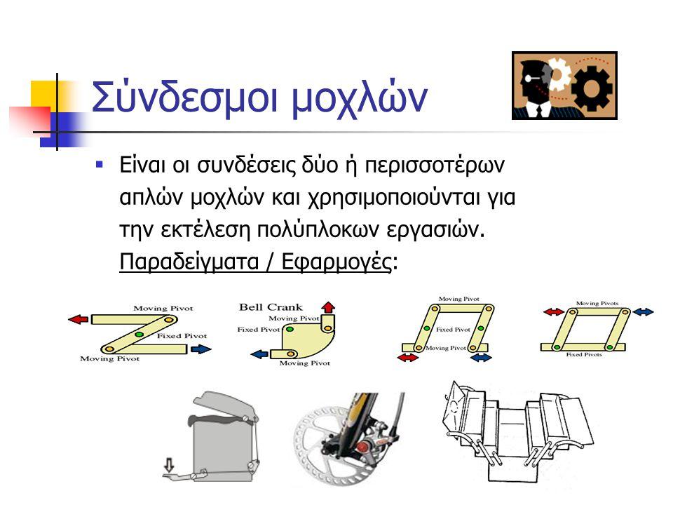 Ροπή μοχλών (Συνέχεια)  Παράδειγμα ΡΟΠΗ = ΔΥΝΑΜΗ(Ν) Χ ΑΠΟΣΤΑΣΗ(m) ΑΠΟ ΥΠΟΜΟΧΛΙΟ  Εφαρμογή 30N 10m 30m 10N ΡΟΠΗ =10N X 30m = 300 Nm Σχ. 5/15 100Ν100Ν