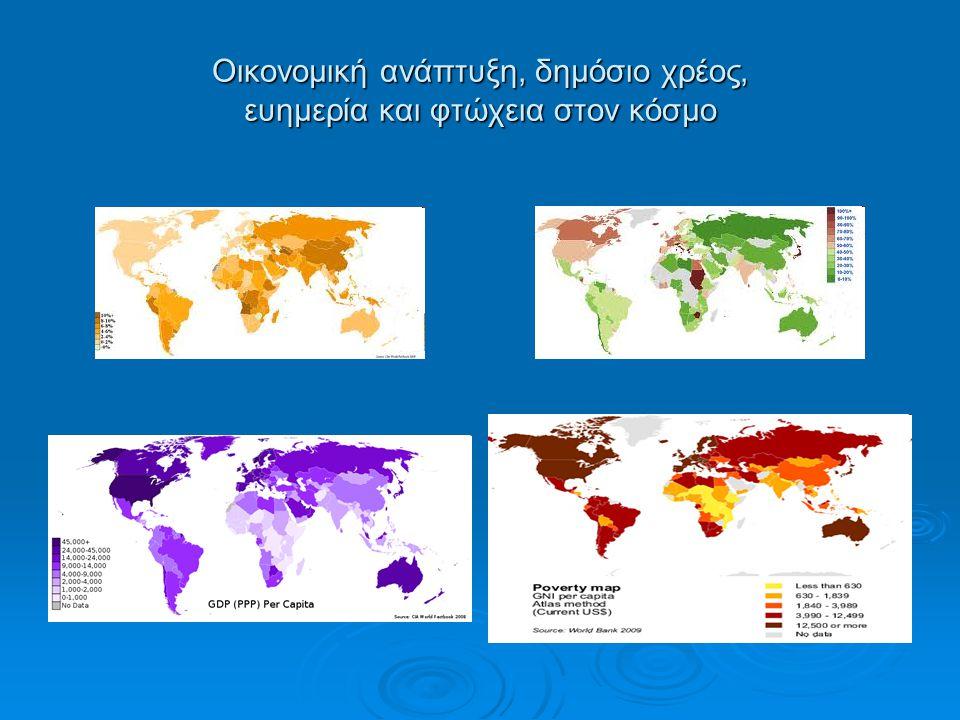Οικονομική ανάπτυξη, δημόσιο χρέος, ευημερία και φτώχεια στον κόσμο