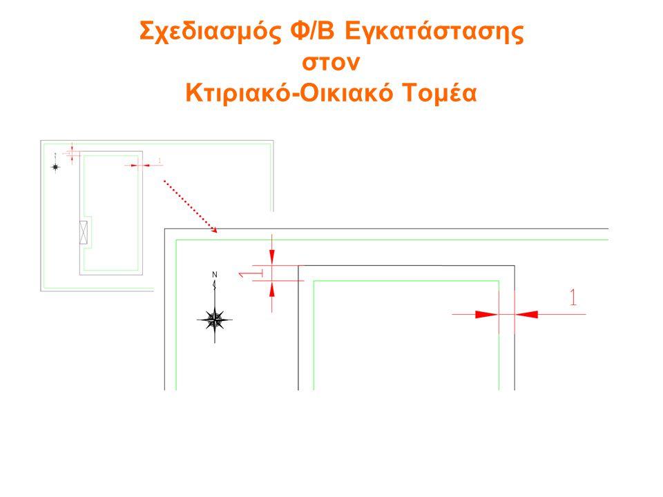 Η χωροθέτηση των φωτοβολταϊκών πλαισίων αρχίζει πρώτα από τη νότια πλευρά της στέγης και εξελίσσεται προς τη βόρεια.