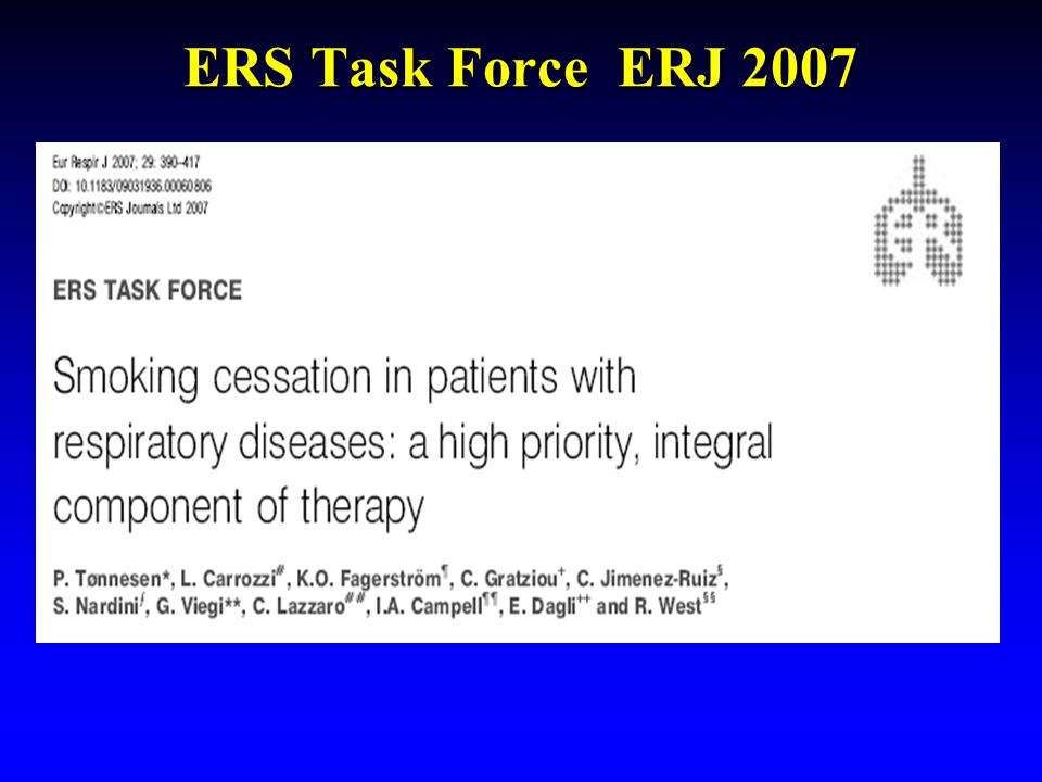 ERS Task Force ERJ 2007