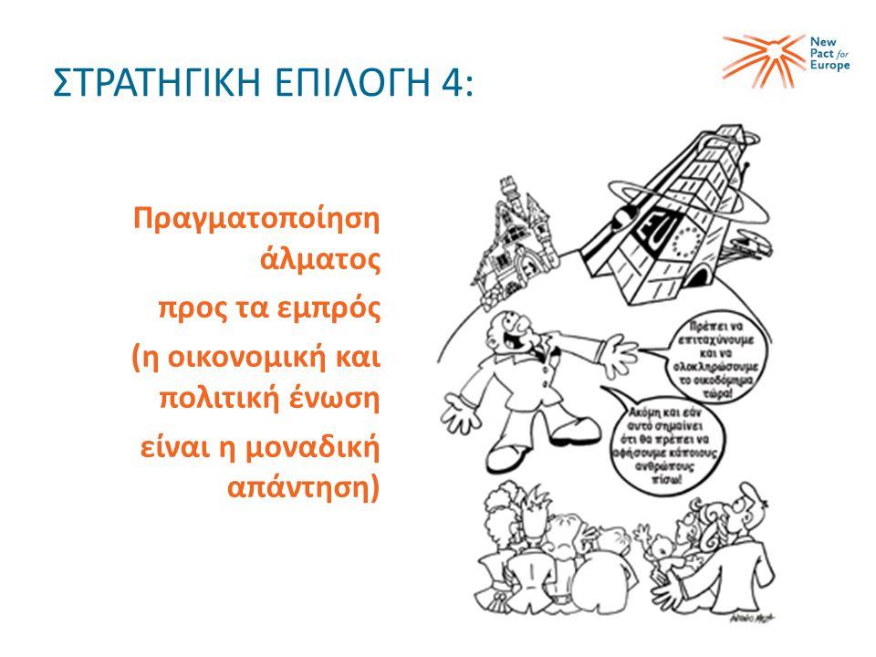 ΣΤΡΑΤΗΓΙΚΗ ΕΠΙΛΟΓΗ 4: Πραγματοποίηση άλματος προς τα εμπρός (η οικονομική και πολιτική ένωση είναι η μοναδική απάντηση)