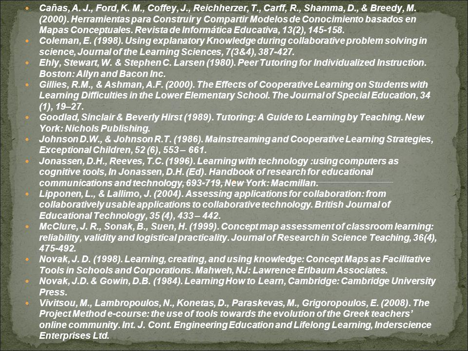  Cañas, A. J., Ford, K. M., Coffey, J., Reichherzer, T., Carff, R., Shamma, D., & Breedy, M.