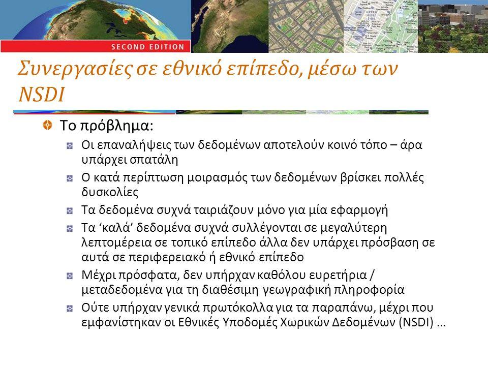 Πολλά κράτη ισχυρίζονται ότι έχουν NSDI ΑυστραλίαΗνωμένο ΒασίλειοΚαναδάςΟυρουγουάη ΒενεζουέλαΙαπωνίαΚίναΠολωνία ΓαλλίαΙνδίαΚολομβίαΠορτογαλία ΓερμανίαΙνδονησίαΚούβαΡωσία ΔανίαΙρλανδίαΜαλαισίαΣλοβενία Δημοκρατία της Τσεχίας ΙσλανδίαΝικαράγουαΣουηδία Δημοκρατία του Ελ Σαλβαδόρ ΙσπανίαΝορβηγίαΦιλιππίνες Δομινικανή Δημοκρατία ΙσραήλΝότια ΑφρικήΦινλανδία Ελβετία Ιταλία ΟλλανδίαΧιλή Ηνωμένες ΠολιτείεςΚαμπότζηΟυγγαρία