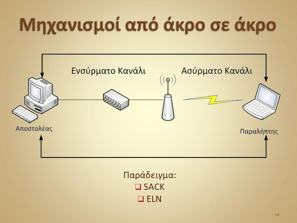 Παράδειγμα:  SACK  ELN 10