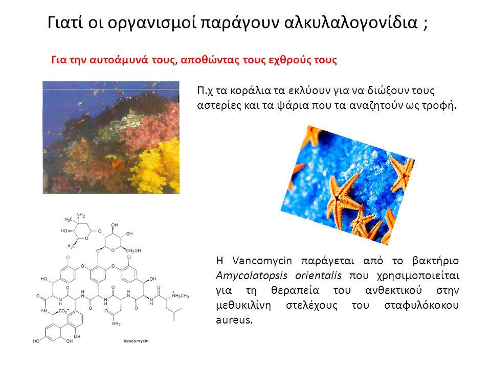 Γιατί οι οργανισμοί παράγουν αλκυλαλογονίδια ; Π.χ τα κοράλια τα εκλύουν για να διώξουν τους αστερίες και τα ψάρια που τα αναζητούν ως τροφή. Για την