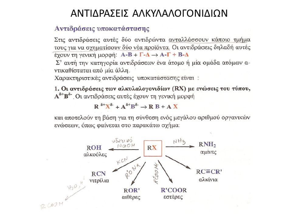 ΑΝΤΙΔΡΑΣΕΙΣ ΑΛΚΥΛΑΛΟΓΟΝΙΔΙΩΝ