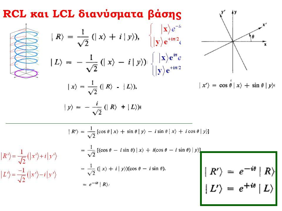 RCL και LCL διανύσματα βάσης - +