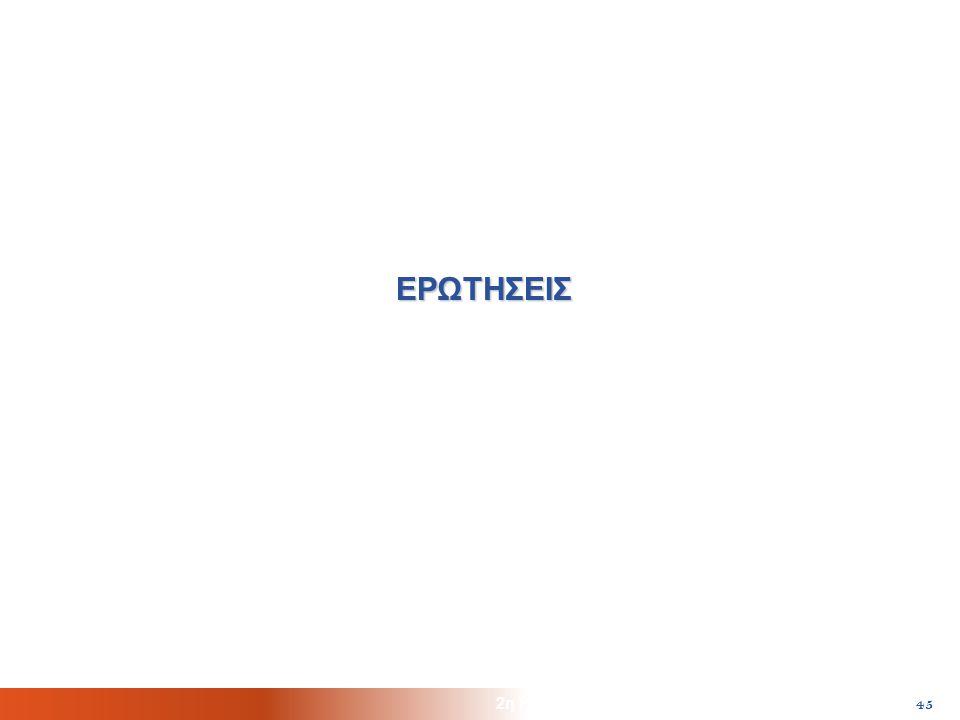 2η Ημερίδα HellasHPC, ΕΙΕ/ΕΚΤ, Αθήνα, 22/10/2010 45 ΕΡΩΤΗΣΕΙΣ