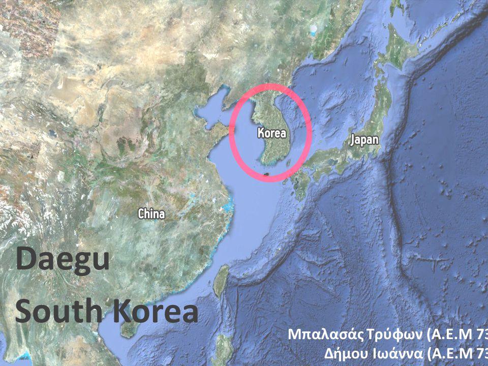 Daegu South Korea Μπαλασάς Τρύφων (Α.Ε.Μ 7345) Δήμου Ιωάννα (Α.Ε.Μ 7315)