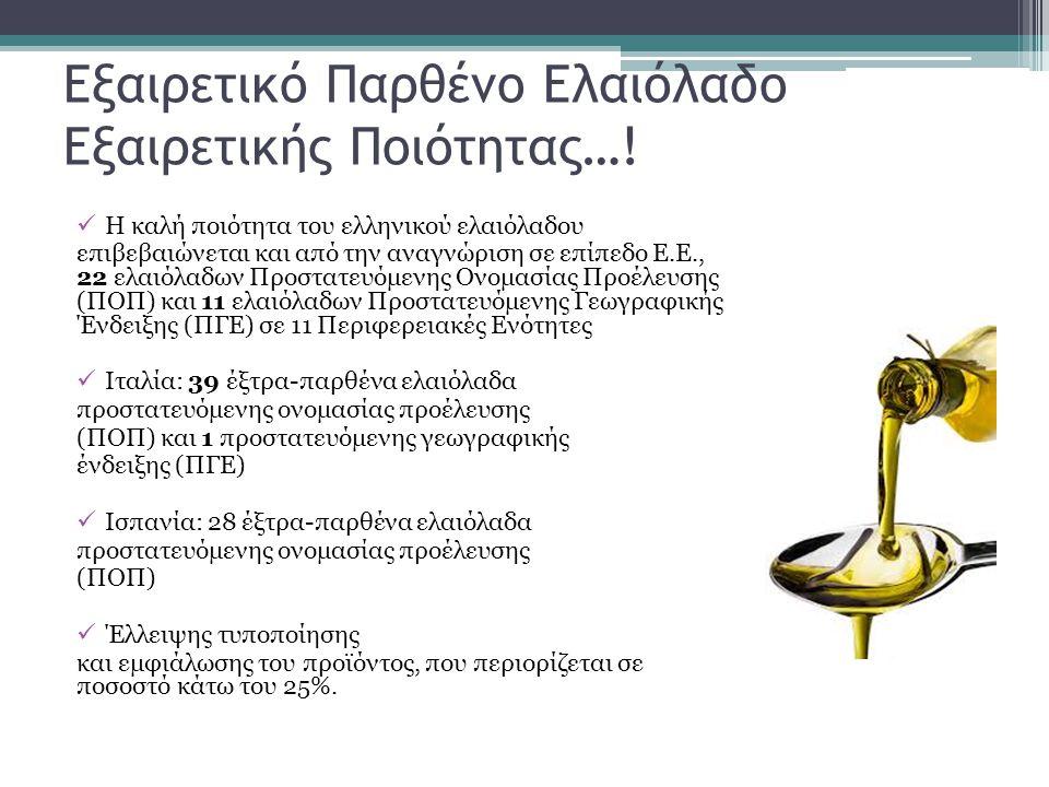Εξαιρετικό Παρθένο Ελαιόλαδο Εξαιρετικής Ποιότητας…!  Η καλή ποιότητα του ελληνικού ελαιόλαδου επιβεβαιώνεται και από την αναγνώριση σε επίπεδο Ε.Ε.,