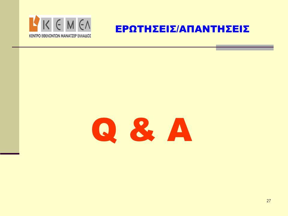 Q & A  aou ΕΡΩΤΗΣΕΙΣ/ΑΠΑΝΤΗΣΕΙΣ 27