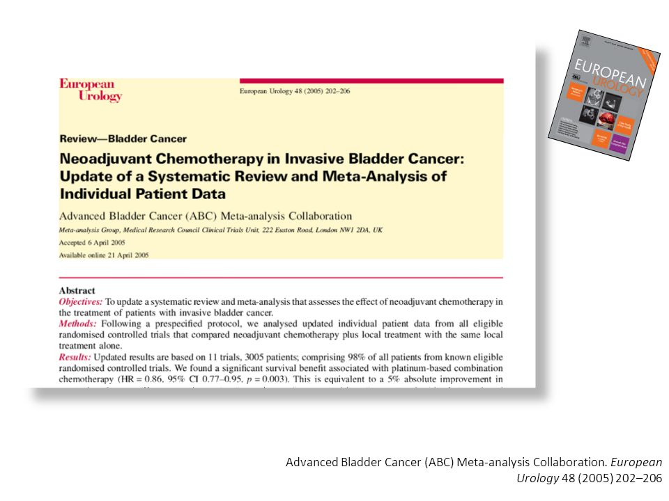 Advanced Bladder Cancer (ABC) Meta-analysis Collaboration. European Urology 48 (2005) 202–206