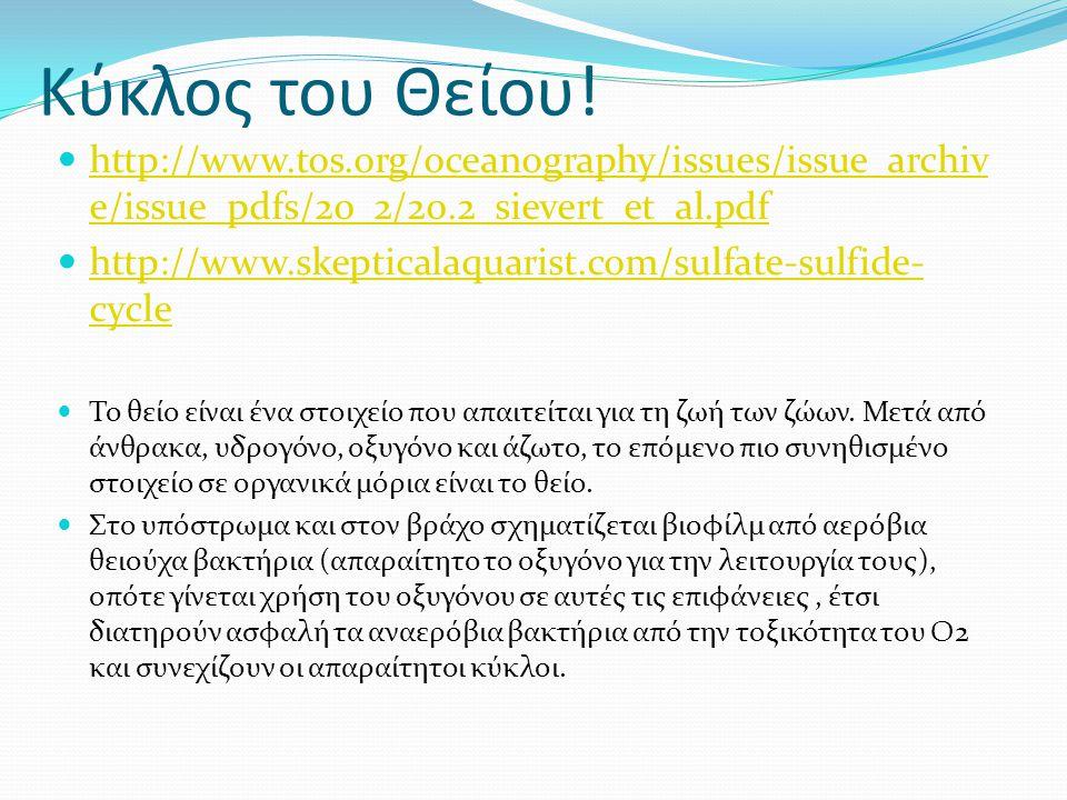 Κύκλος του Θείου!  http://www.tos.org/oceanography/issues/issue_archiv e/issue_pdfs/20_2/20.2_sievert_et_al.pdf http://www.tos.org/oceanography/issue