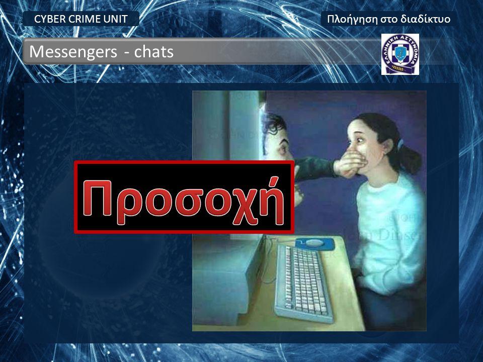 CYBER CRIME UNIT Messengers - chats Πλοήγηση στο διαδίκτυο