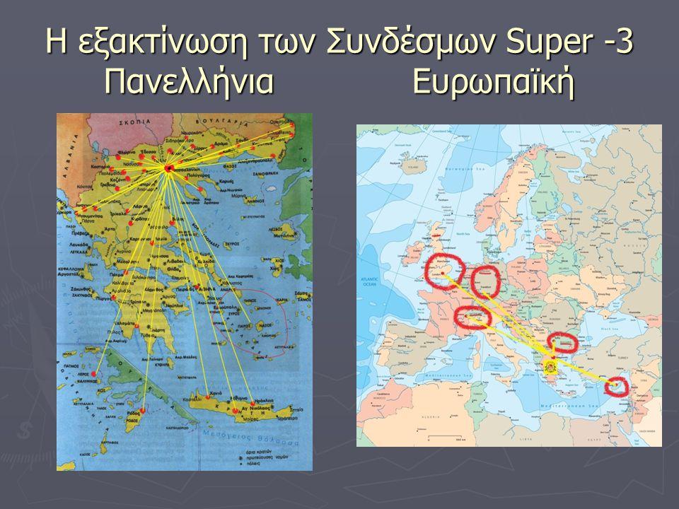 Η εξακτίνωση των Συνδέσμων Super -3 Πανελλήνια Ευρωπαϊκή