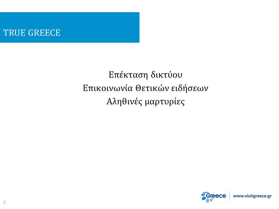 Επέκταση δικτύου Επικοινωνία Θετικών ειδήσεων Αληθινές μαρτυρίες TRUE GREECE 5