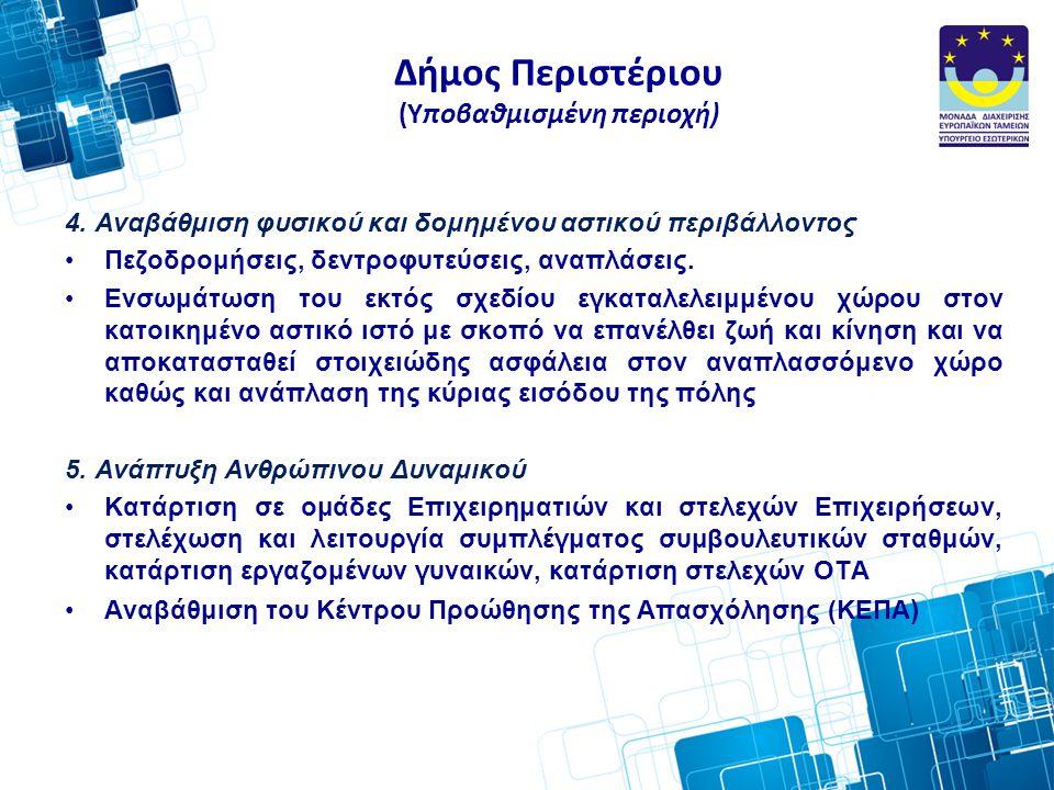 Δήμος Περιστέριου (Υποβαθμισμένη περιοχή) 4.