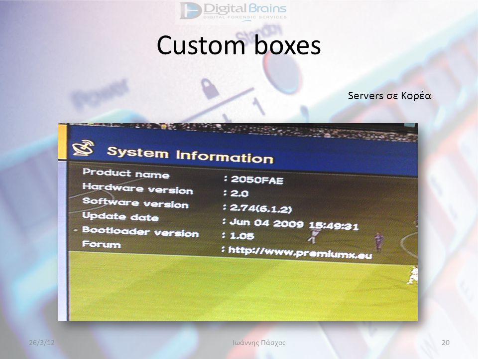 Custom boxes Servers σε Κορέα 26/3/12Ιωάννης Πάσχος20
