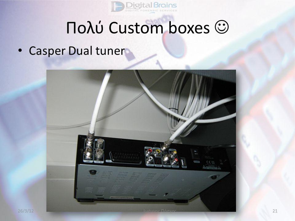 Πολύ Custom boxes  • Casper Dual tuner 26/3/12Ιωάννης Πάσχος21