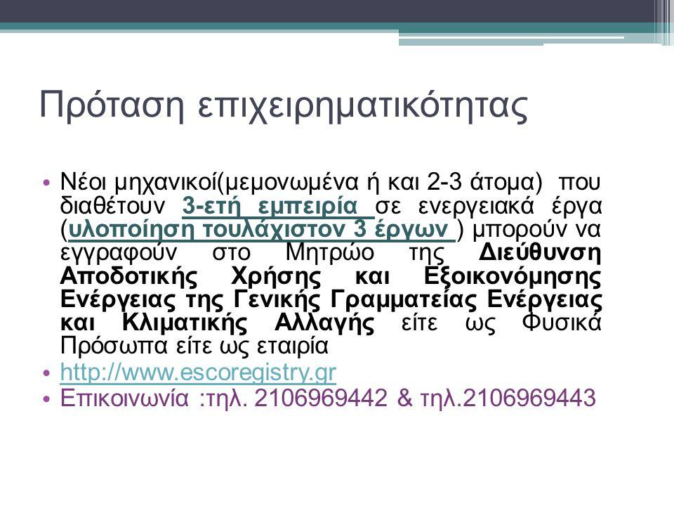 Διαδικασία εγγραφής στο http://www.escoregistry.gr http://www.escoregistry.gr Ηλεκτρονική Αίτηση και Αποστολή δικαιολογητικών στην Αρμόδια Υπηρεσία Έλεγχος και διασταύρωση εγκυρότητας των στοιχείων.