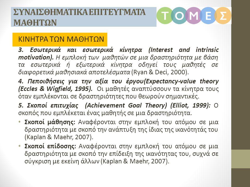 1.Ενδιαφέρον για τα Μαθηματικά (Interest in Mathematics).