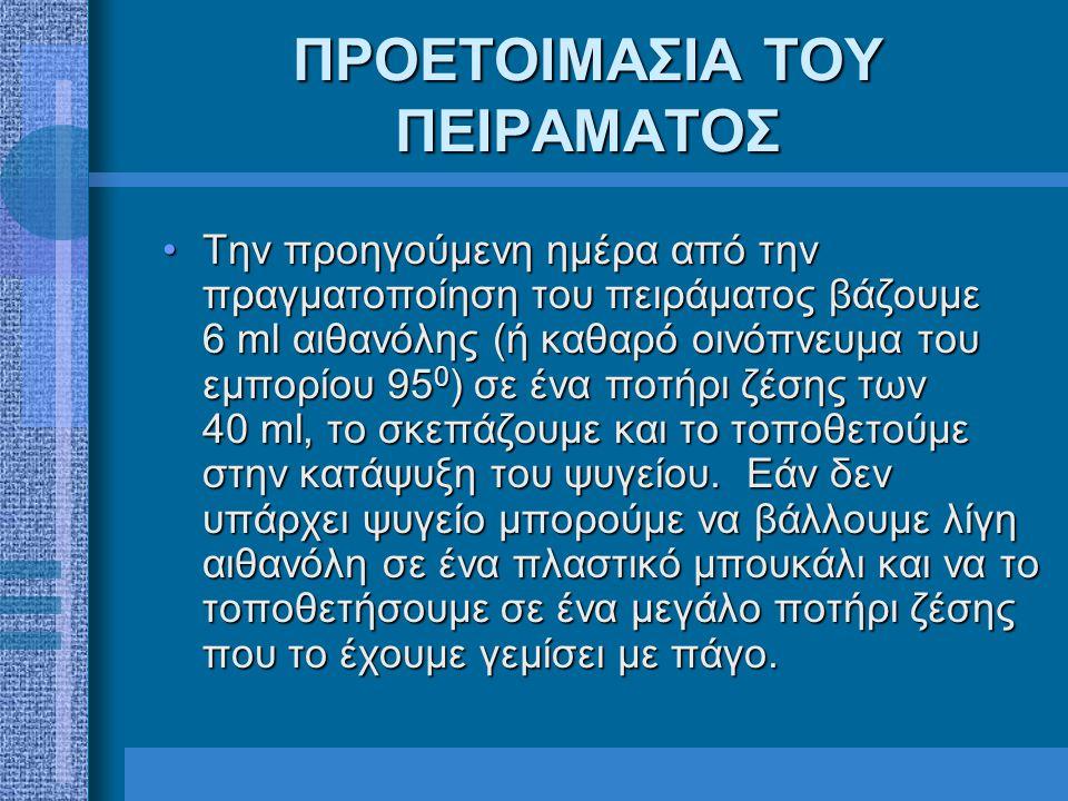 ΔΙΑΔΙΚΑΣΙΑ ΠΕΙΡΑΜΑΤΟΣ