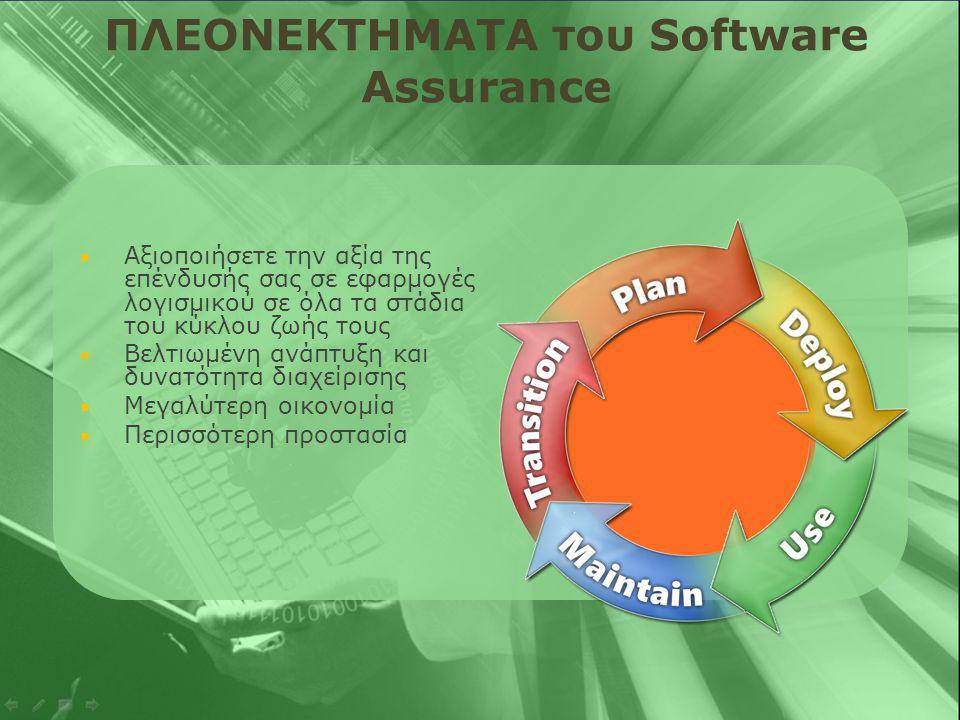  Δικαιώματα νέας έκδοσης Αποκτάτε πρόσβαση σε νέες εκδόσεις λογισμικού, οι οποίες θα διατεθούν κατά τη διάρκεια της συμφωνίας.