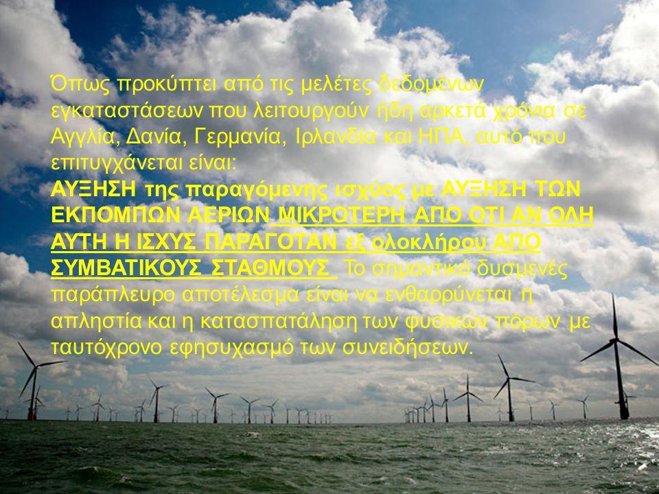 Η μισή αλήθεια: Η αιολική ενέργεια είναι δωρεάν και γι αυτό το ρεύμα που παράγεται είναι φθηνό.