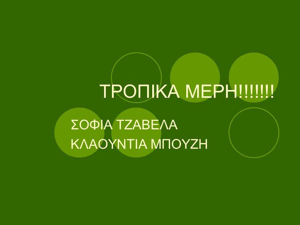 ΤΡΟΠΙΚΑ ΜΕΡH!!!!!!! ΣΟΦΙΑ ΤΖΑΒΕΛΑ ΚΛΑΟΥΝΤΙΑ ΜΠΟΥΖΗ
