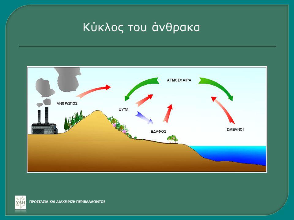 ΠΡΟΣΤΑΣΙΑ ΚΑΙ ΔΙΑΧΕΙΡΙΣΗ ΠΕΡΙΒΑΛΛΟΝΤΟΣ Κύκλος του άνθρακα