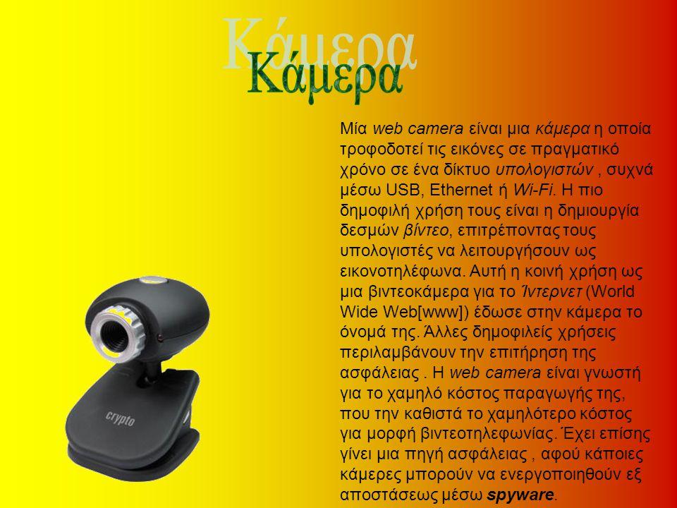 Μία web camera είναι μια κάμερα η οποία τροφοδοτεί τις εικόνες σε πραγματικό χρόνο σε ένα δίκτυο υπολογιστών, συχνά μέσω USB, Ethernet ή Wi-Fi. Η πιο