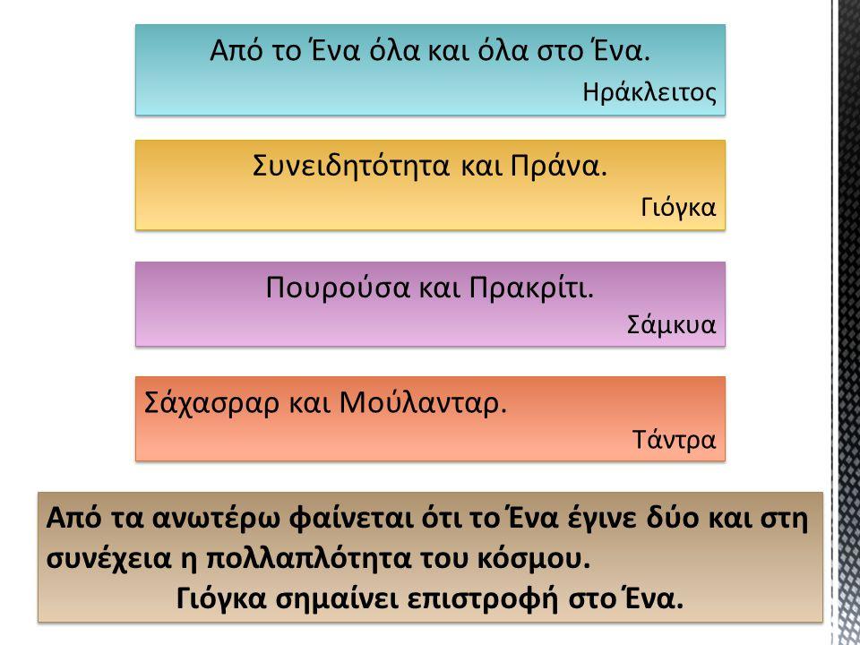 Είναι το δεύτερο μέρος του Ηράκλειτου: …και όλα στο Ένα.