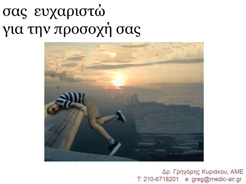 σας ευχαριστώ για την προσοχή σας Δρ. Γρηγόρης Κυριάκου, ΑΜΕ Τ: 210-6718201 e: greg@medic-air.gr