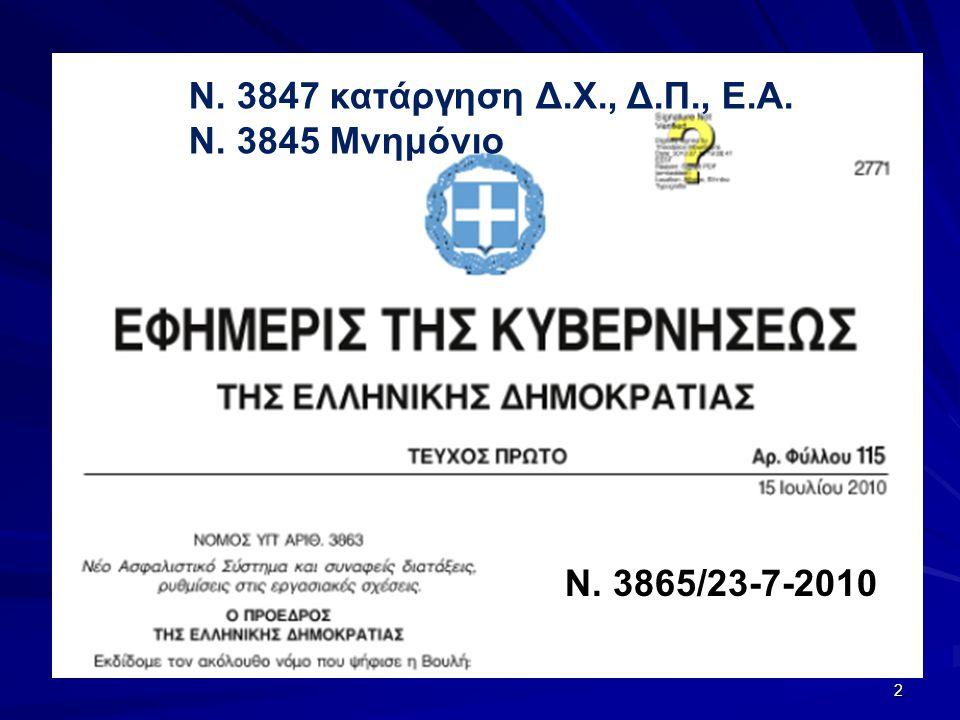 Ασφαλιστική μεταρρύθμιση 2010 Ν.