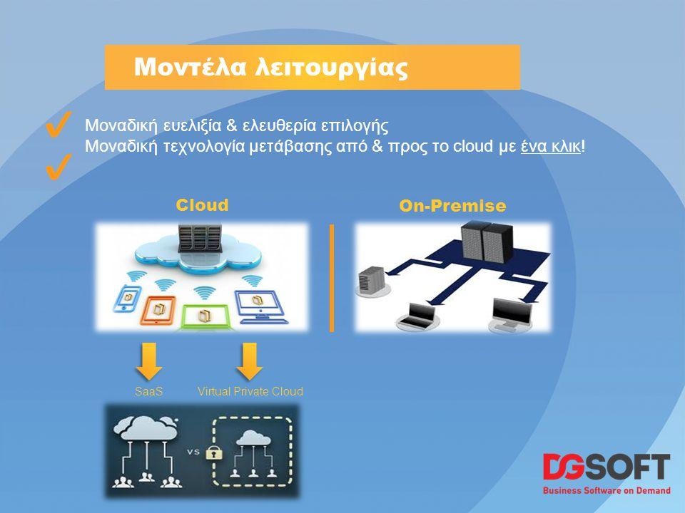 Μοναδική ευελιξία & ελευθερία επιλογής Μοναδική τεχνολογία μετάβασης από & προς το cloud με ένα κλικ.