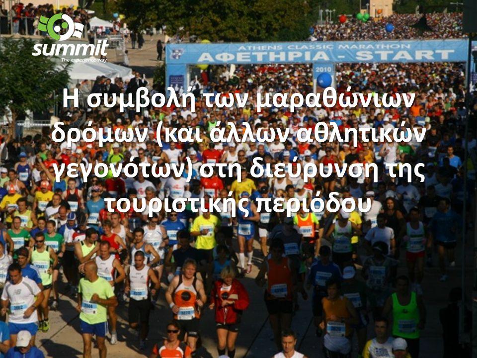 H συμβολή των μαραθώνιων δρόμων (και άλλων αθλητικών γεγονότων) στη διεύρυνση της τουριστικής περιόδου