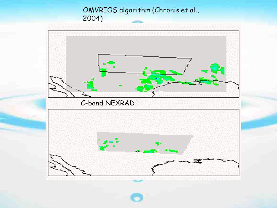 OMVRIOS algorithm (Chronis et al., 2004) C-band NEXRAD