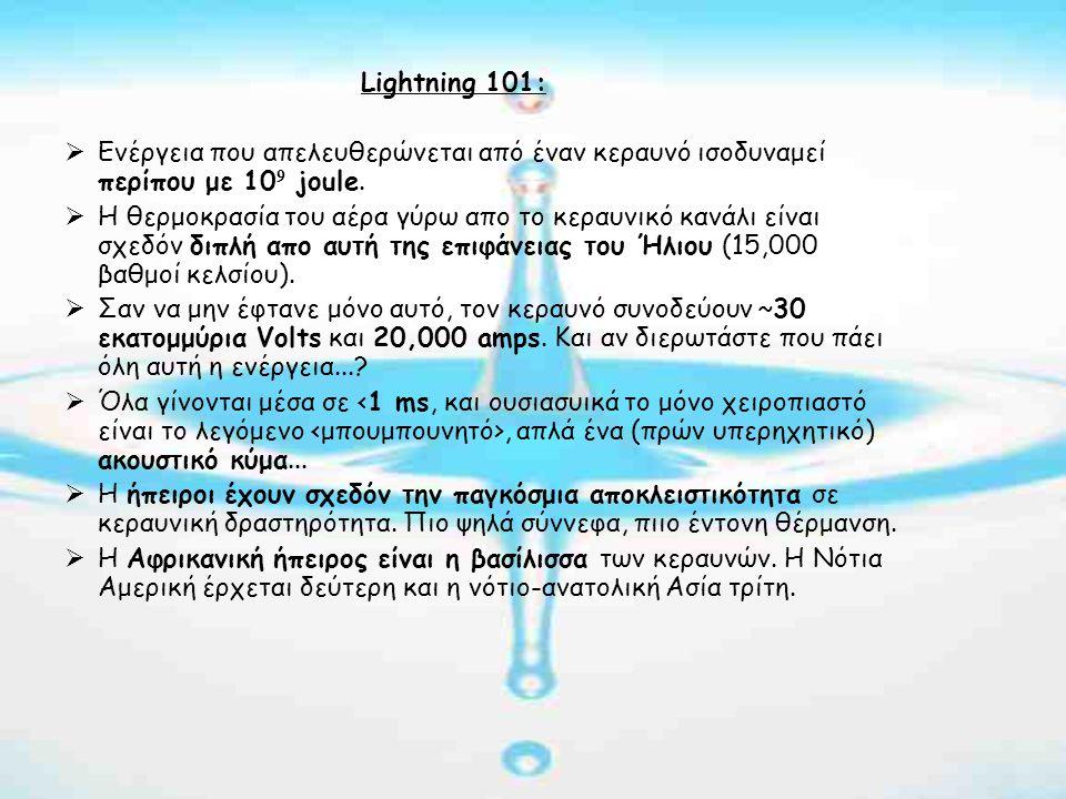 Lightning 101 (cont'd):  Θα υπήρχε ζωή χωρίς κεραυνούς.