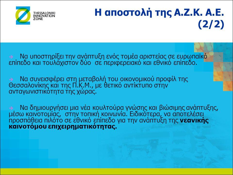   Να υποστηρίξει την ανάπτυξη ενός τομέα αριστείας σε ευρωπαϊκό επίπεδο και τουλάχιστον δύο σε περιφερειακό και εθνικό επίπεδο.   Να συνεισφέρει σ
